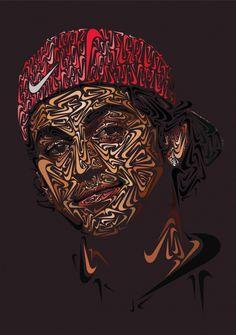 Portrait Illustrations based on the Nike Swoosh - JOQUZ #nike