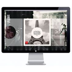 FTR/SND WEBSITE on the Behance Network #flevo #futuresound #rosco #etcfh #design #concept #art #layout #web #typography
