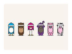 animals, headband gang, color