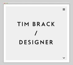 Tim Brack #website #layout #design #web