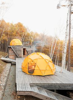 CJWHO ™ (A Platform for Living by General Design ...) #photography #dome #fall #outdoors #camping #tent
