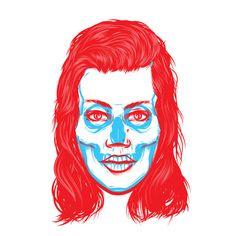 Visual Graphic #illustration #collage #colours #skull