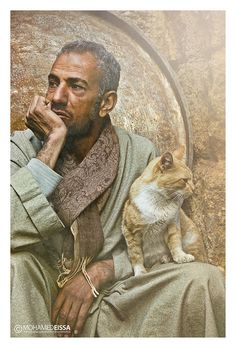 Man & Cat #eissa #cairo #el #egypt #khan #mohamed #photography #khalili
