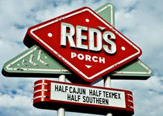 RED'S Porch : Come On In #marquee #sign #retro #restaurant #vintage