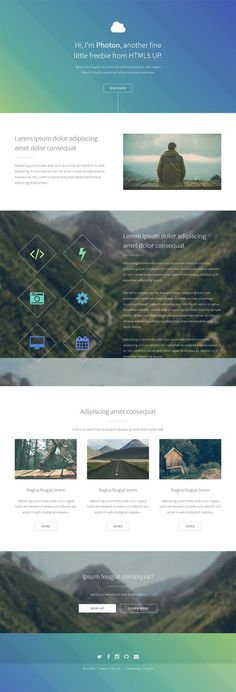 Photon : Free Responsive HTML5 Template