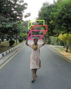 WK_Nihalani_Overhead_cred. Aakash Nihalani #tape #cube #art #street