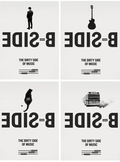 design work life » Sébastien Bisson: B-SIDE Branding #bus #guitar #side #white #cat #black #peeing #poster #man #pollution