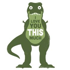 David Olenick worx @ ShockBlast #dinosaur #illustration #rex #love