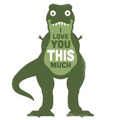 David Olenick worx @ ShockBlast #dinosaur #illustration #rex #love