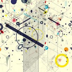 Virtual Chaos on the Behance Network #graphic design #illustration #shapes