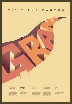 Typographic Poster on Behance