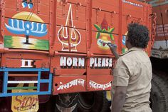 photo #truck #indian #sign #painting