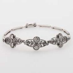 Bracelet set with 12 old European cut diamonds