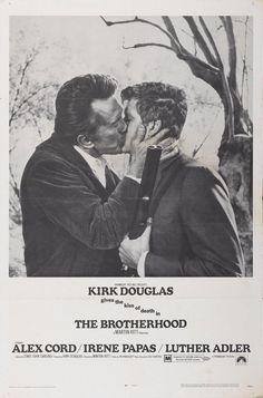 The Brotherhood (1968) flim poster cinema kiss