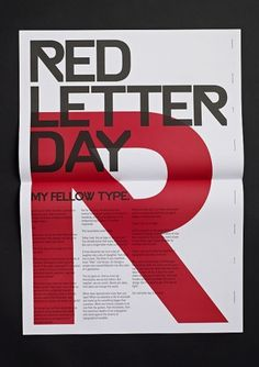 4e9e447d8c64b8fa31580cbcfd333d90.jpg (JPEG-Grafik, 600 × 850 Pixel) #red #letter #day #poster #typography