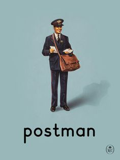 postman Art Print by Ladybird Books Easyart.com #vintage #artprints #print #design #retro #art #bookcover