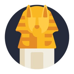 See more icon inspiration related to egyptian, cultures, art and design, canopic jar, burial, ancient, sculpture and art on Flaticon.