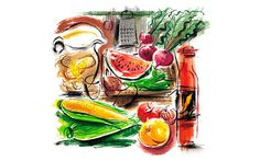 Food Illustration by Jo Tronc #drawing