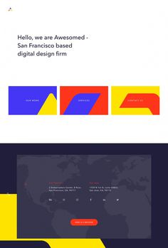 Awesomed - Mindsparkle Mag - Awesomed is a San Francisco based digital design firm whose beautiful, colorful and cool website is selected by