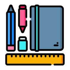 See more icon inspiration related to book, pen, pencil, rule, ruler, pencilcase, art and design, holder, office material, school material, education and stationery on Flaticon.
