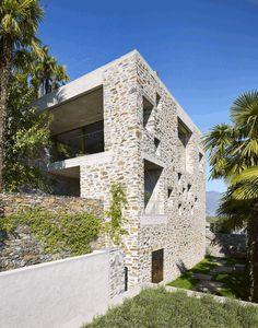 Stunning Stone House in Switzerland Unveils Modern Interiors 2