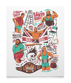 dead wrestler group wrestlers #wrestling #illustration #ilovedust #poster