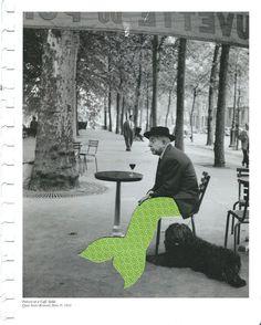1950s merman, paris (series) 2 #paris #merman #1950s #design #doisneau #leriquiqui #art #collage #mermaid