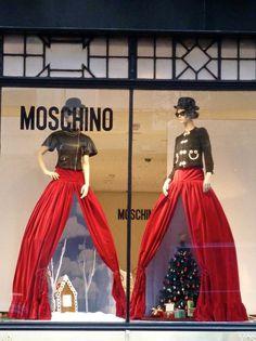 Christmas display underneath the