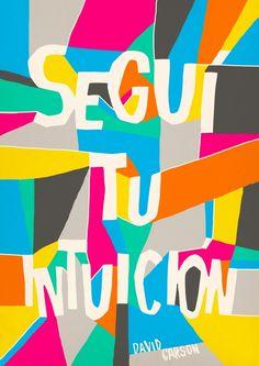 David Carson 2012 poster quote