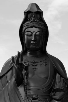 the cosmos of enlightened vision #sculpture #monument #black #buddha #jesus #maria