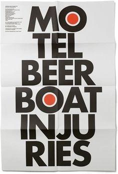 Jérôme St-Loubert Bié - Experimental Jetset #poster #typography
