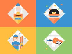 Wisely Animation Scenes #illustration