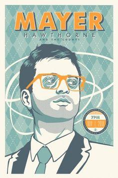 MayerHawthorne-Web.jpg (JPEG Image, 400x600 pixels) #glasses #gig #print #retro #screen #atomic #portrait #poster #musician
