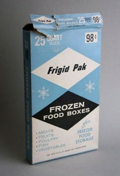 mid-century frozen food box #packaging #design #graphic #mid #vintage #century