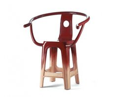 'Plastic Classic_Lacquered' chair by Pili Wu for Han Gallery (TW) @ Dailytonic #lacquered #wood #chinese #chair