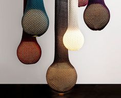 Knitted iD light #fixtures are beautiful and attractive series that combine #technology and #craft in a unique way.