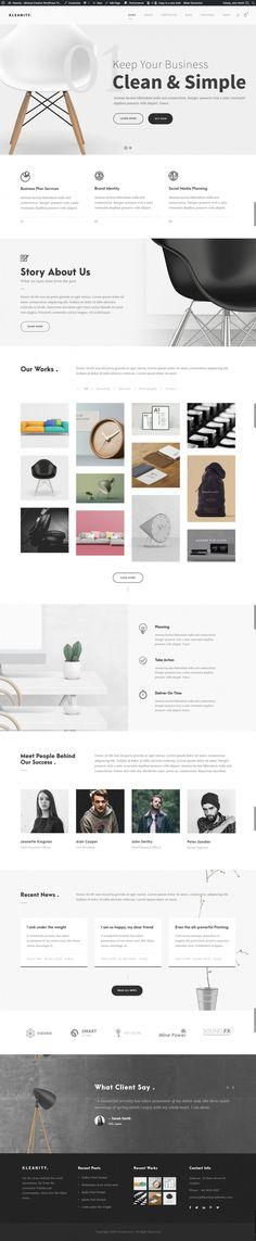 Kleanity – Minimalist / Creative Portfolio