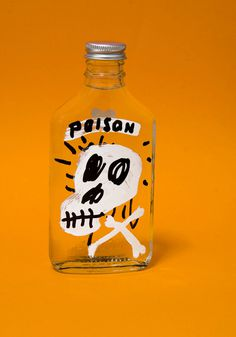 Poison #potion #bottle #james #illustration #skull #victore #poison