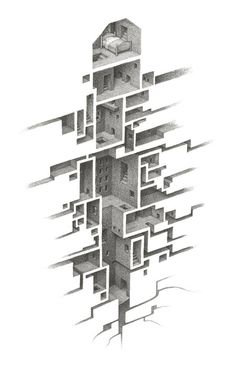 Airy Dresses Carved From Marble by Alasdair ThomsonMarch 29 #illustration #maze #surreal
