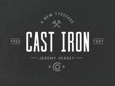 Cast Iron : Free Condensed Font