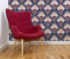 Stunning Patterned Wallpaper #design #patterns #colours