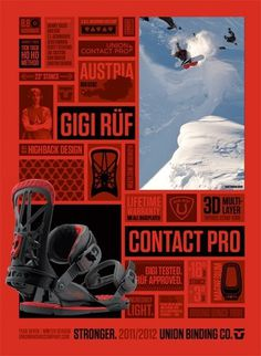 Union Binding Co. Advertising 2011-2012 by Draplin | Allan Peters' Blog #draplin #snowboarding #design #typography