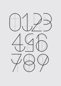 Numerografía Yorokobu on Behance #font #design #graphic #typography