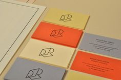 Roser Ribas Albert Romagosa #business #card #print #identity #logo #cards