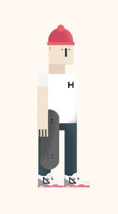 hipster editorial illustration  - www.lucasjubb.co.uk