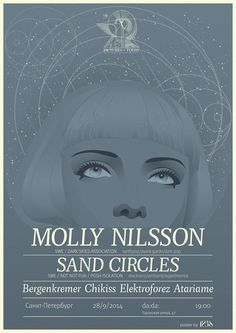 Molly Nilsson concert poster #gig #illustration #portrait #poster #music #concert