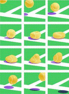 Wimbledon 2012 poster by James Jessiman