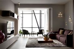 Apartment in Trendy Dark Colors - #decor, #interior, #homedecor,