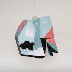 BOICUT X MOSTLIKELY #lamp #illustration #paper #diy