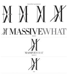 MASSIVEWHAT LOGO #logo #identity #massivewhat